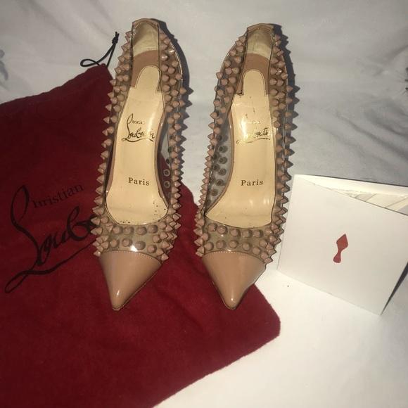 8e0c817b67 Christian Louboutin Shoes | Louboutin Spike Me Pvc Clearnude Heels ...